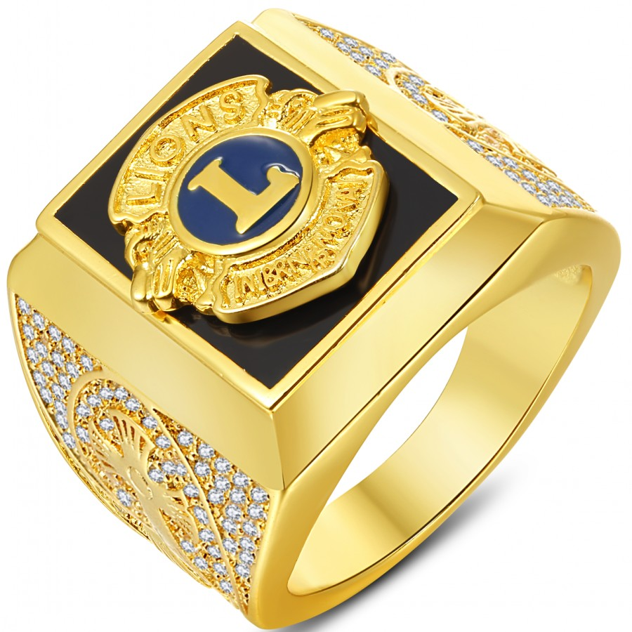 Stainless Steel Freemasons Masonic Compass Hexagon Crest Flat Top Biker Style Polished Ring