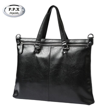 P.P.X Brand 14 Inch Handbags Notebook Computer Laptop Sleeve Bags Case For Men Women Briefcase Shoulder Bag P376(China)