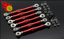 GTB/ORC RACING FOR LOSI 5IVE-T MINI CNC unpper and lower suspension tie rod + steering tie rod 6pc