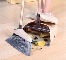 Dustpan Lobby Broom Combo 3 Foot Overall Height Ergonomic Dustpan and Telescoping Handle(China)