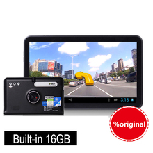 7 inch GPS Android Navigation Capacitive Screen Car dvrs Recorder camcorder FM WIFI Truck vehicle gps Built in 16GB Free Map(China)