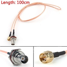 Sale 100cm RG316 Cable BNC Female Bulkhead Jack To SMA Male Plug Straight Pigtail 3ft High Quality Mini Jackplug Wire Connector