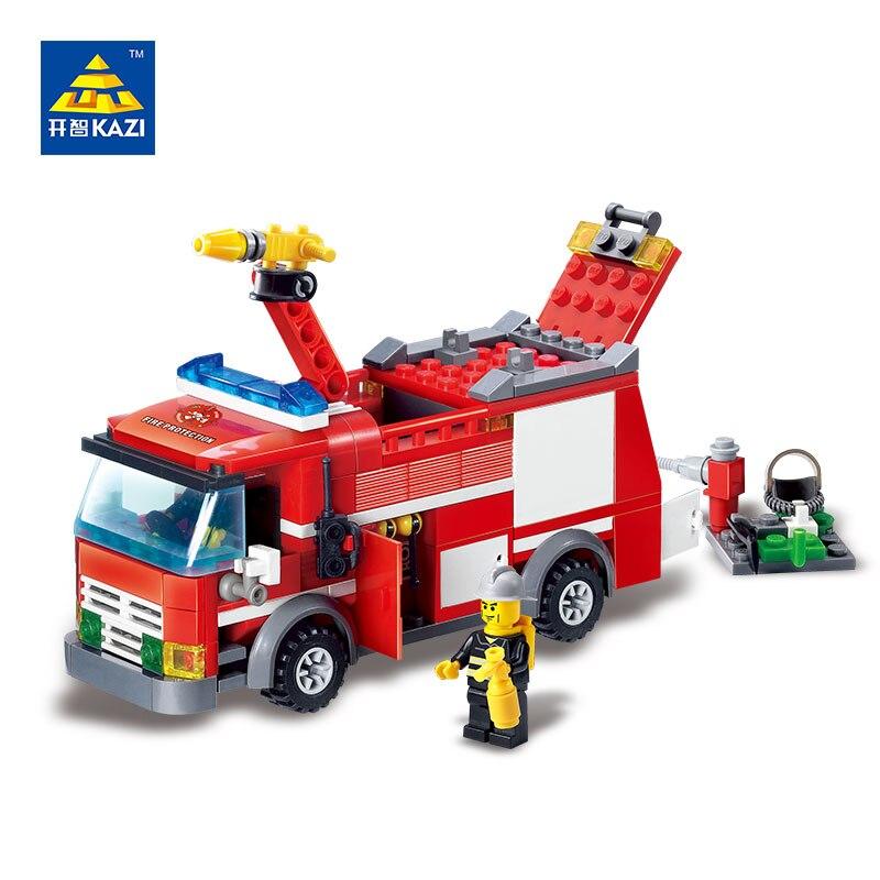 Kazi 8054 Fire Truck Blocks 206pcs Bricks Building Blocks Sets Education Toys For Children<br><br>Aliexpress