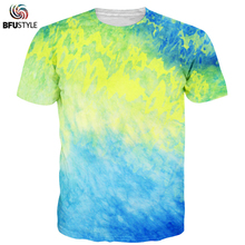 BFUSTYL T Shirts Homme 2017 Short Sleeve O Neck Summer Print Tops Tees Casual Men's Clothing Colorful Tie Dye T-shirt