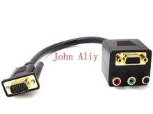 Brand new VGA to Female VGA RCA Adapter Computer Cable Splitter(China)