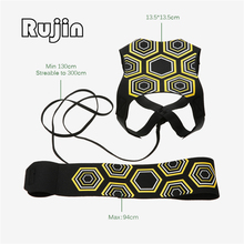 Brand Rujin Soccer Ball Practice Assistance Children Adjustable Belt Kids Football Training Equipment Kick Solo Soccer Trainer