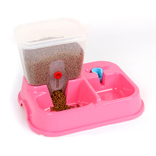 Plastic Pets Automate Feeder Bowl Cats Dogs Feeding Blows Water Food Storage Convenient Pet Products Accessories Tools