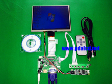 "HDMI/VGA/AV Control Driver Board +Touchscreen + 8""inch HE080IA-01D 1024*768 IPS high-definition LCD Display For Raspberry Pi"