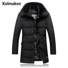 KOLMAKOV 2017 new winter high quality men's Comfortable real Fox fur collar down jacket parkas,90% white duck down coats men.(China)