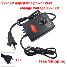 Wholesal AC to DC Adapter 3-12V2A Adjustable Power Supply Motor Speed Controller For Electric Hand Drill Power Adapte DC3V-12V(China)