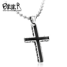 2017 New Designed Stainless Steel Christian Cross Pendant For Man And Woman BP8-126(China)
