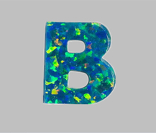 50 pcs /lot  Free Shipping  9X10mm Synthetic drilled   Letter B  Cabochon  Fire Opal  Stone  for Opal Necklace & Pendant