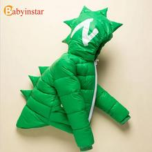 Children Dinosaur Style Boy's Outwear Coat Girl's Down & Parkas Autumn Winter Tops For Kid Cute Animal Thick Warm Infant Outfit