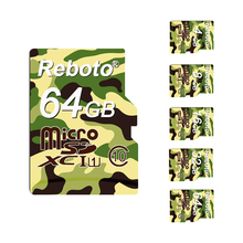 Reboto TF Card Green Micro SD Card Colourful Memory Card 64gb 32gb Mini Flash Cards High Speed for Phone Free Shipping(China)