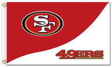 Top design San Francisco 49ers flag 90x150cm outdoor polyester banner with 2 Metal Grommets Wholesale(China)