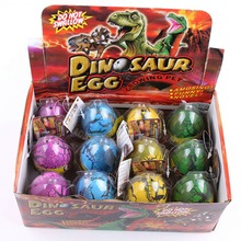 6.5cm Novelty Toys Magic Water Growing Egg Hatching Colorful Dinosaur Add Cracks Grow Eggs Cute Children Kids Toys 2 Pcs