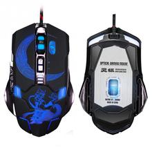 Gaming Mouse Mechanical Luminous Cable Game Mice Internet Cafe TV CF Computer Controller Accessories(China)