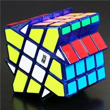MoYu AoSu Crazy 4x4x4 Windmill Speed Cube Transparent Blue Cubo magico kub Juguetes good gift