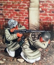 1/35 Scale WW2 German Kharkov Battle Machine Gunners Miniatures WWII Resin Model Kit Figure Free Shipping(China)
