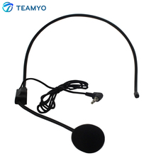 Teamyo Mini Microphone Vocal Wired Headset Microfono for Voice Amplifier Speaker Mike for Phone Computer Tablet PC