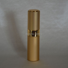 8ml gold Travel Refillable Perfume Atomizer empty Perfume bottle,twist glass perfume bottle,perfume packaging(China)