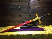 Wonderful Invincible Sword Good luck Sword Red 1060 Carbon Steel Blade HandMade(China)