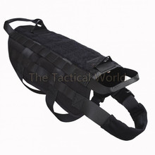Police K9 Tactical Training Dog Harness Molle Vest Packs Coat 4 Color S-XL Outdoor Military Hunting Dog Clothes Load Bearing(China)