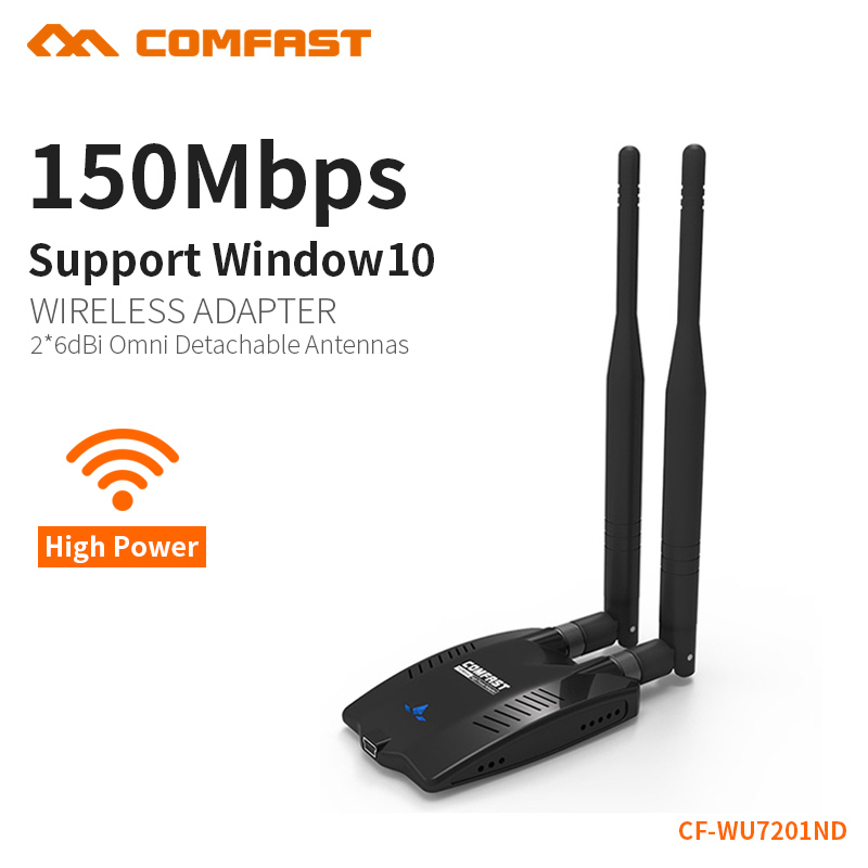 COMFAST wireless wi fi adapter high power signal network adapter 150Mbps transmission 2.4G dual antenna dongle wifi CF-WU7201ND(China)