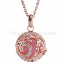 Partnerbeads Geometric Angel Lockets Plated Inlaid CZ Stone Stainless Steel Cage Prayer Box (exclude the ball) AC3765R