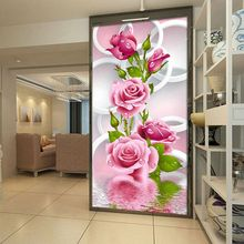 1PC Newest Fashion Pink Rose Flower DIY 5D Diamond Embroidery Painting Cross Stitch Needlework Beauty Home Decor Craft 2017 Hot