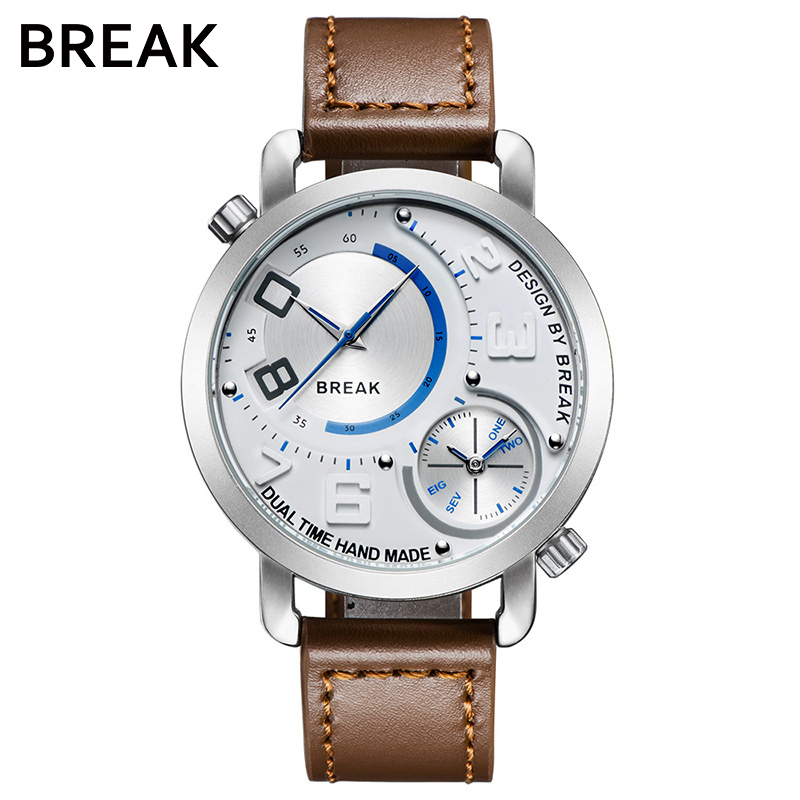 BREAK 2017 Brand Cool Men Quartz Watches Luxury Leather Military Army Clock Male Waterproof Sport Wristwatch relogio masculino<br>