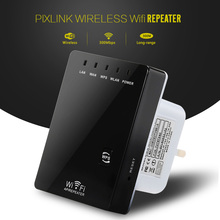 PIXLINK Wireless WiFi Router Wifi Repeater 300MbpsSignal Booster Dual LAN Port 802.11n/ b/g Wifi Range Signal Expander Amplifier