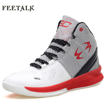 Feetalk Hot Sale Kids' Sneakers basketball shoes damping Breathable men and women sneakers(China)