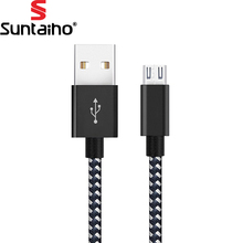 USB Cable 2.4A Fast Charging Suntaiho Micro USB Cable Data Charger Cable 1M 2M 3M Mobile Phone Cable for Samsung Android Phone