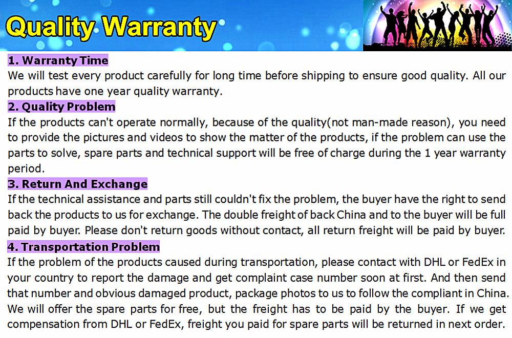 05 Quality warranty