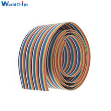 1M 3.3ft Flat Cable 40 Pin Rainbow Ribbon IDC Cable Wire Rainbow Cable In Stock(China)