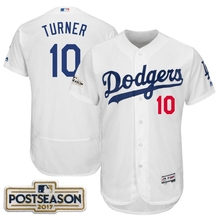 MLB Los Angeles Dodgers Justin Turner 2017 Postseason Patch jerseys(China)