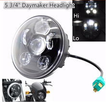 "5 3/4 ""  Harley Headlight , 5.75Inch Motorcycle Led Headlights Projector Daymaker Replace Hid Kit For Harley Davidso"