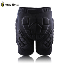 Freeshipping XS-3XL Outdoor Sports Ski Skate Snowboarding hip protector Skiing Skating Protective Hip Padded Shorts(China)