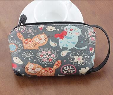 cute carton multi cat style girl teenager women coin wallet purse with wristband iphone6 phone bags coin pouch bolsas feminina <br><br>Aliexpress