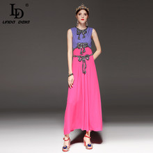 Buy High Fashion Designer Maxi Dress Women's Sleeveless Luxury Sequin Long Dress Elegant Party Dresses for $58.64 in AliExpress store