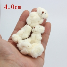 10pc 2colors 4.0cm  mini Joint Teddy Bear Plush Stuffed  Wedding BOX toy doll  Garment & Hair Accessories decor doll