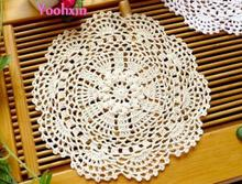 HOT cotton placemat cup coaster pot mug holder kitchen handmade table place mat cloth lace round Crochet dining doily drink pad