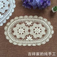 New cotton handmade tablecloth white table cloths for weddings Vintage Crocheted Doilies sofa covers table mats home decor