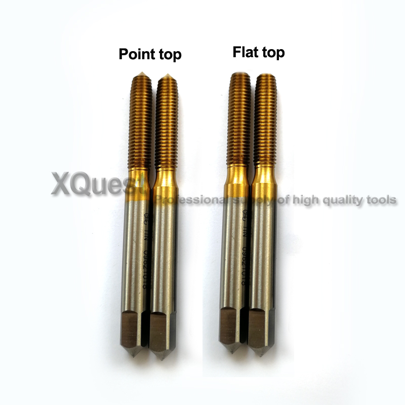 KLOT 10pcs HSS TiN Coated Fine Thread Forming Plug Tap M3-M16 Straight Flute