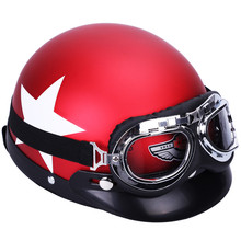 Locomotive Halley style Motorcycle Helmets Lover Couple Unisex Anti-UV summer Electricity vehicle Half helmet(China)
