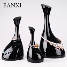 FANXI Free Shipping Unique Necklace Display Stand Holder For Jewelry Shop Jewellery Bracelet Organizer With Hooks Expositor