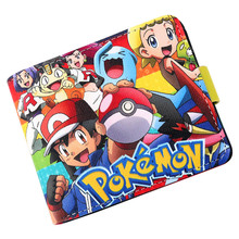 Pokemon Go Poke Center Poke Ball Pikachu Wallet PU Short Purse(China)