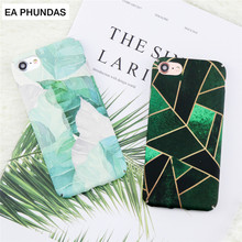 For Iphone 7Plus case Luxury fashion High Quality Hard PC EA PHUNDAS case For Iphone Retro Plants Leaf for iphone 8plus case(China)