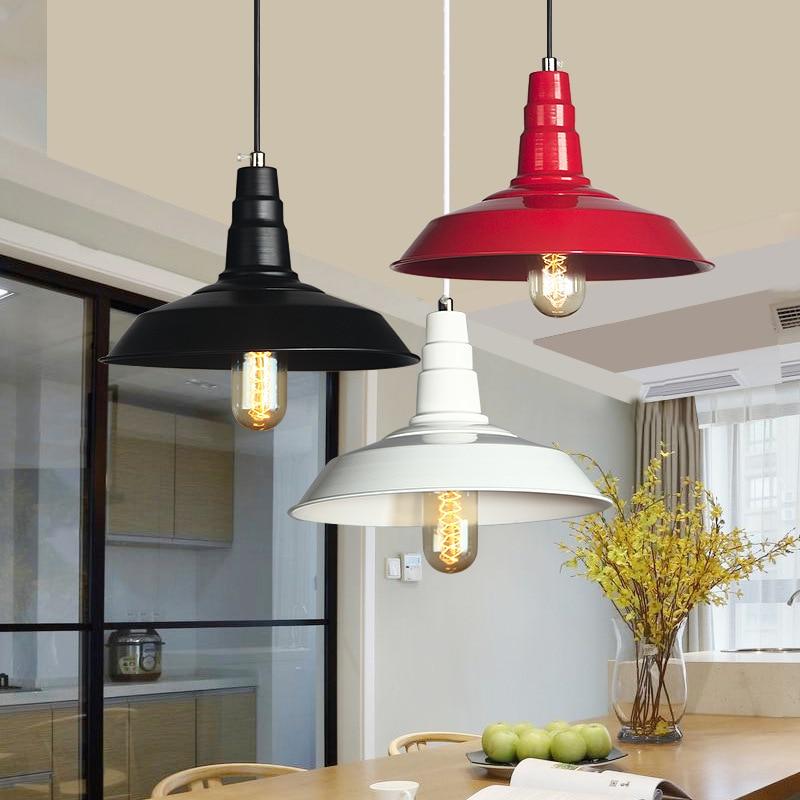 Pendant Lights Aluminum Lampshade Industrial Lighting Loft Lamparas Dining Room Pendant Lamp Edison Light Fixtures<br>
